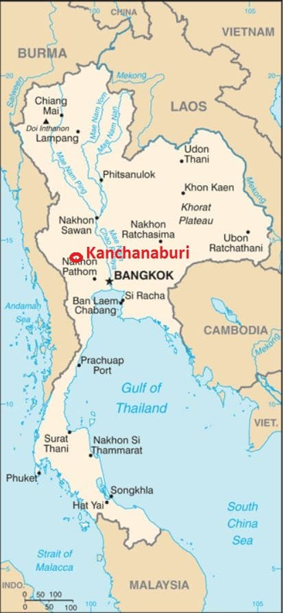 Kanchanaburi Thailand Map.Thailand All About Kanchanaburi Asia Travel Addict